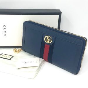 NWT Gucci Ophidia Zip Around Wallet